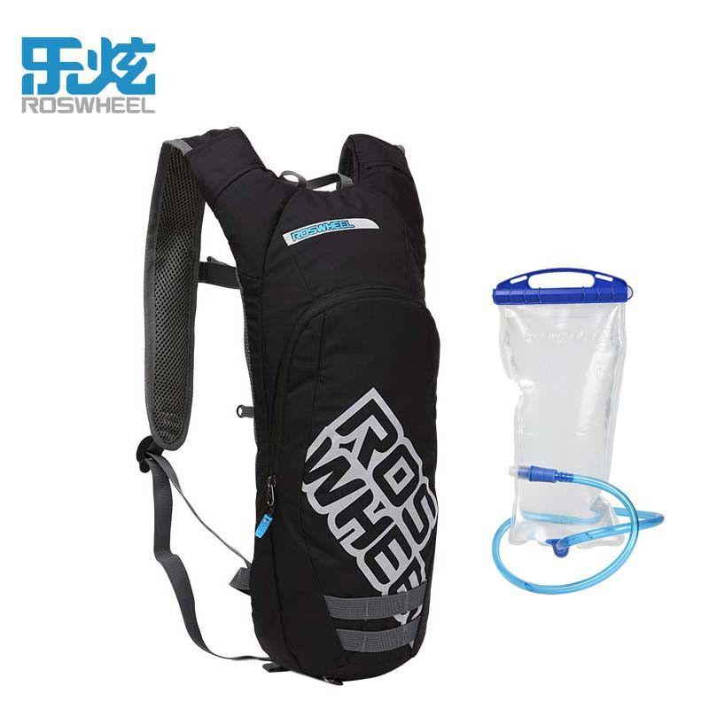 ROSWHEEL черный Велосипедный Спорт сумка спортивная 1.5 л воды мешок Велоспорт Многофункциональный рюкзак + увлажнение Сверхлегкий Пеший Туризм...
