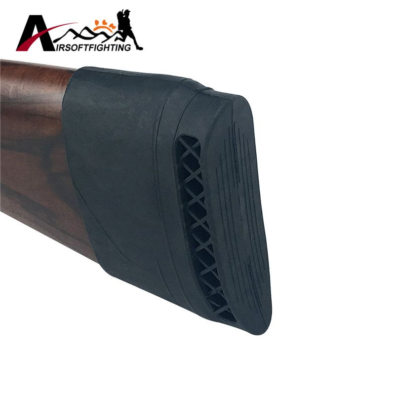 1pcs Hunting Rifle Rubber Recoil Pad Slip-On Buttstock Shooting Extension Gun Butt Protector Rubber