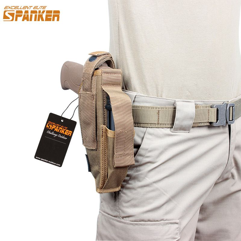 EXCELLENT ELITE SPANKER Universal MOLLE buckle Bagging Pistol Belt Holster Clip Waist Pack Military Outdoor Handgun Pouch equip