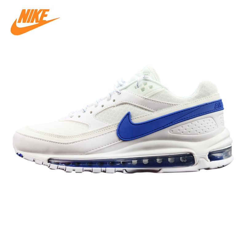Nike Air Max 97 BW X Skepta Men's Running Shoes, White & Red, Shock Absorbing Lightweight Breathable Non-slip AO2113 100