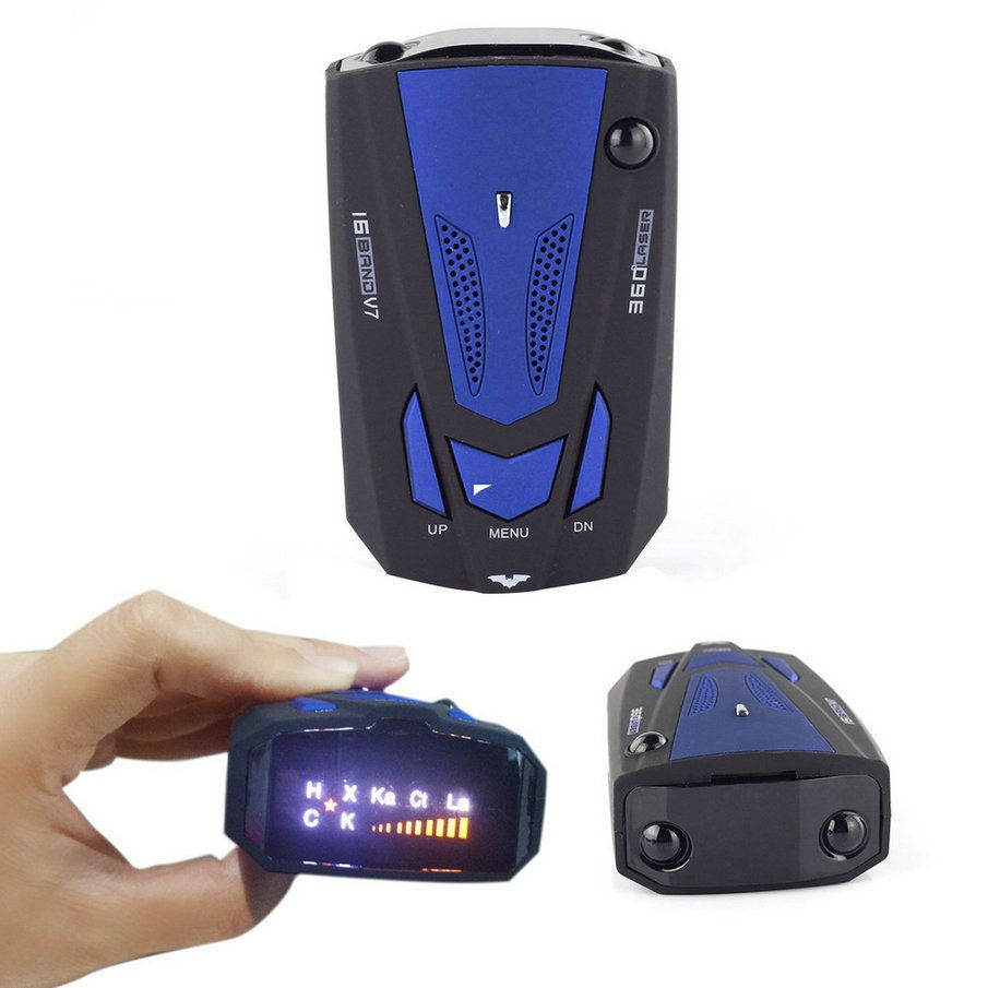 2017 New English Voice Anti Radar Detector Red/Blue 360 Degree V7 For Car Speed Limited Radar Detector Car-styling Car-detector