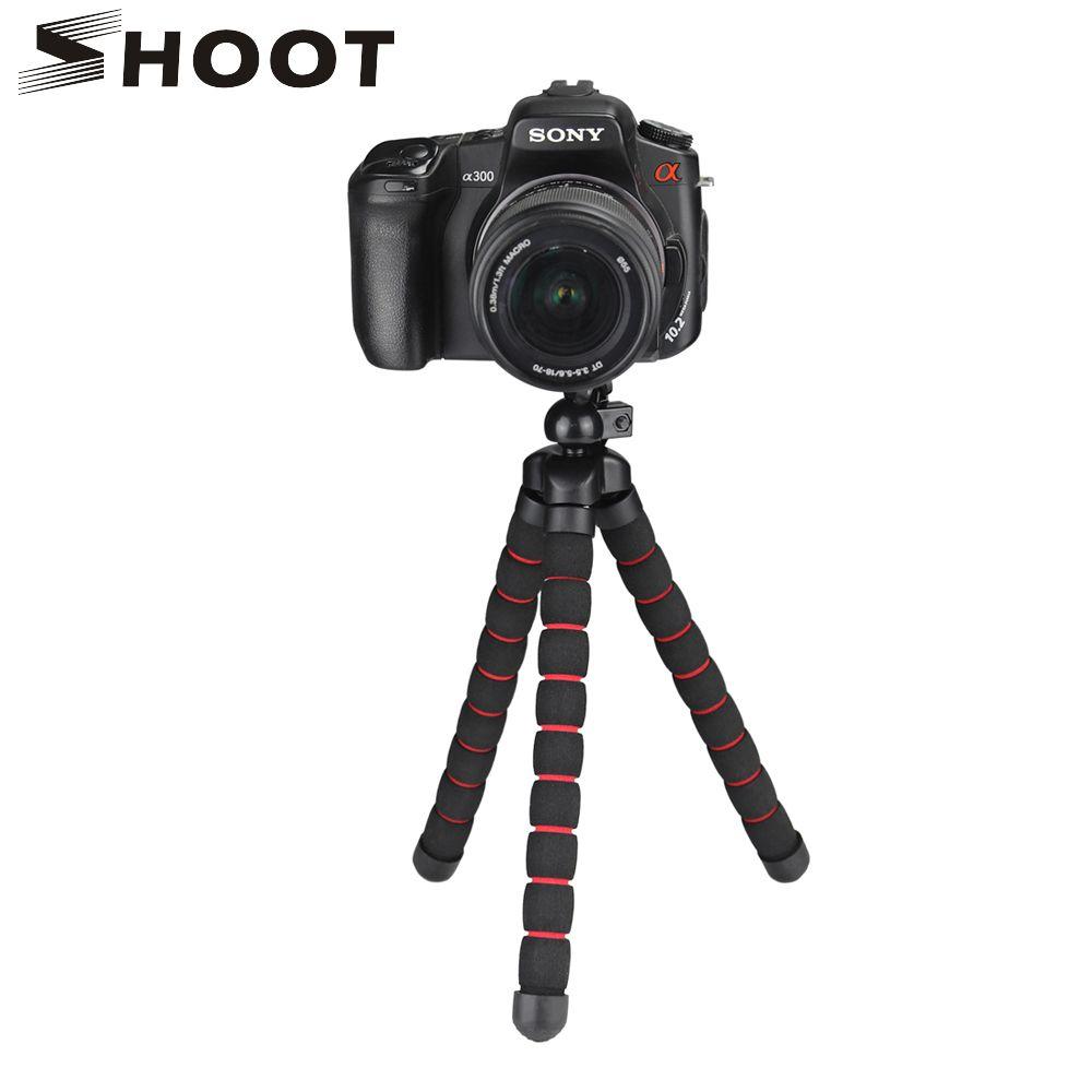 Tirez sur un trépied poulpe flexible de grande taille pour Gopro 7 6 5 Sjcam Xiaomi Yi 4 K Eken Nikon Sony Canon D5200 DSLR support de trépied