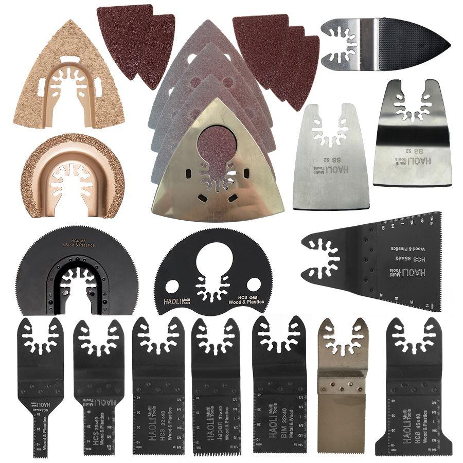 66 pièces outil oscillant lame de scie accessoires pour outil électrique multifonction comme Fein outil électrique etc, bois métal coupe, maison bricolage