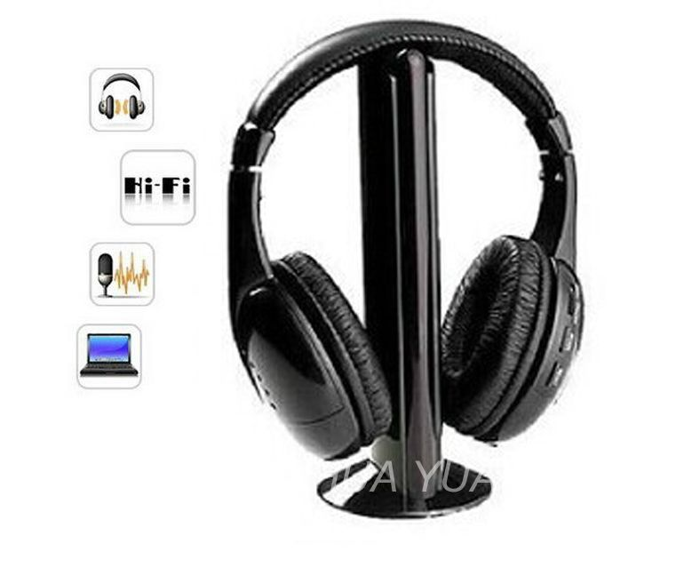 5 IN 1 HIFI wireless headphones TV/Computer FM radio earphones high quality headsets with microphone wireless receiver EPH2001