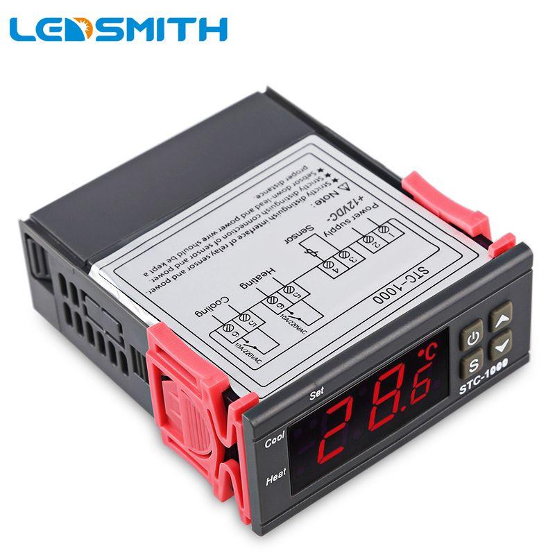 LED SMITH LED Numérique Température Contrôleur STC-1000 12 V 24 V 220 V Thermorégulateur thermostat Avec Chauffage Et Refroidisseur
