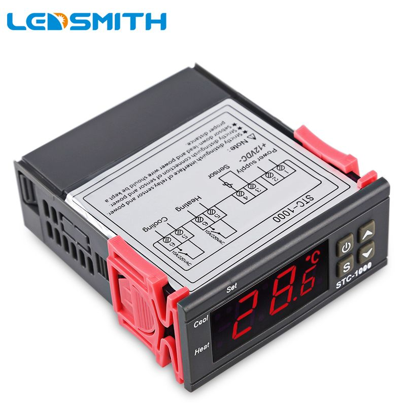 LED SMITH LED régulateur de température numérique STC-1000 12 V 24 V 220 V thermostat thermorégulateur avec chauffage et refroidisseur