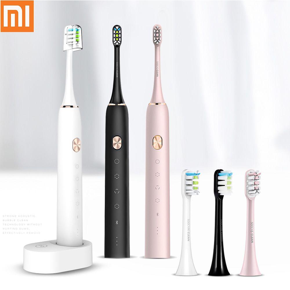Xiaomi Soocas X3 brosse à dents électrique étanche USB Rechargeable mis à niveau brosse à dents électrique sonique brosse à dents Ultra sonique