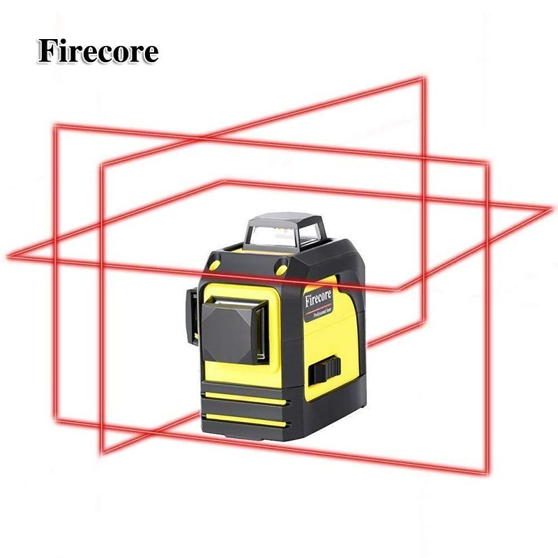Firecore 12Lines 3D 93T Laser Level Self-Leveling 360 Horizontal And Vertical Cross <font><b>Super</b></font> Powerful Red Laser Beam Line