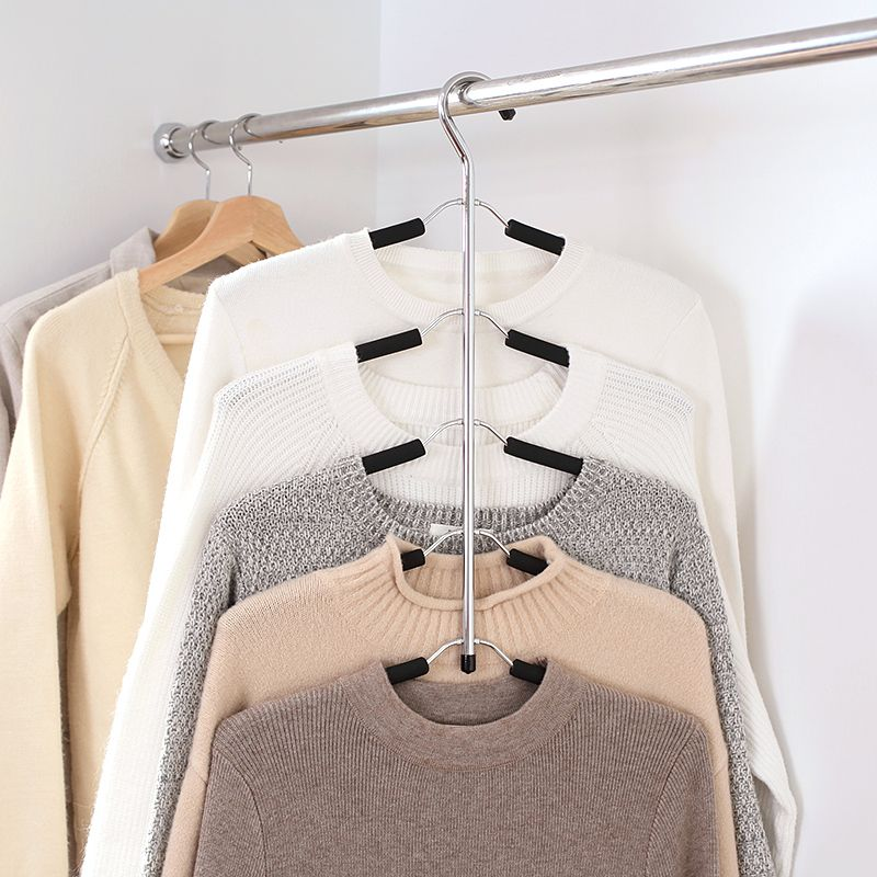 Hanger Rack Shawl Cloth Closet Multifunctional hanger seamless slip-resistant clothes <font><b>hanging</b></font> household multi-layer clothes64476