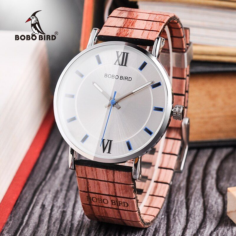 BOBO BIRD New Design Wood Band Watches Timepieces for Men and Women Casual Quartz Watch in Wooden Gift Box DROP SHIPPING