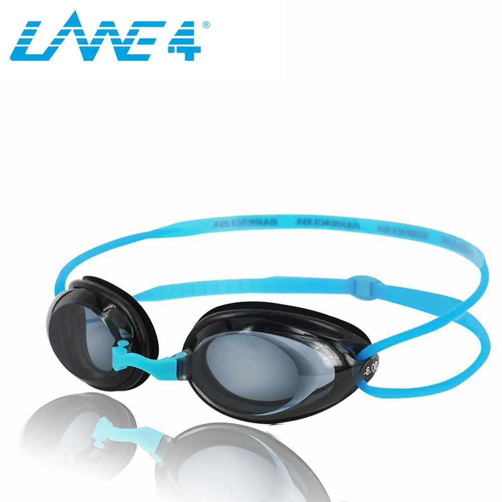 Lane4 оптический Плавание, гидродинамические профиль Рамки силиконовые Уплотнители Анти-туман УФ-защита для взрослых синий #2195
