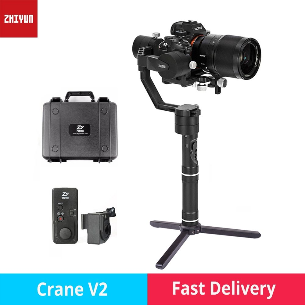 zhi yun Zhiyun Crane V2 3-Axis Brushless Handheld Gimbal Stabilizer camera gimbal for Canon Nikon Sony DSLR mirrorless cameras