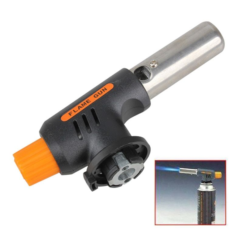 Barbecue Igniter Gas Torch Butane Burner Auto Ignition Camping Welding Flamethrower Outdoor BBQ Party High Temperature Flame Gun