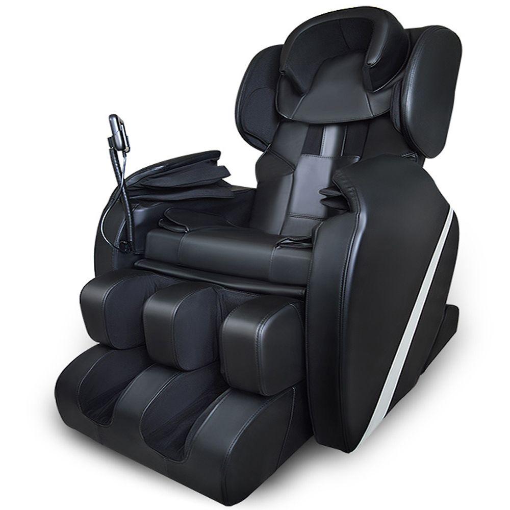 Massageganzkörper Schwerelosigkeit Shiatsu Elektrischer Massagestuhl Liege w/Wärme AIRBAG Gestreckt Fußstütze Tiefe Gewebe Geben Steuer