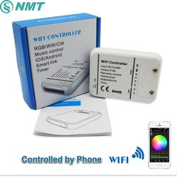 DC12V 24 V Wifi LED Pengendali RGB/RGBW/Rgbww 16 Juta Warna Musik dan Mode Penghitung Waktu Kontrol WIFI oleh Ponsel Pintar Ios/Android