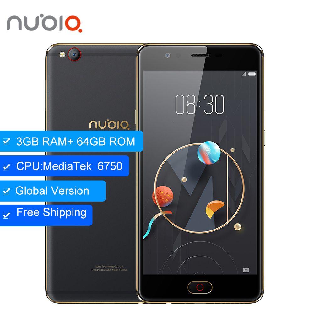 Original ZTE Nubia M2 LITE 3GB 64GB 4G LTE MT6750 Octa Core Android M 5.5