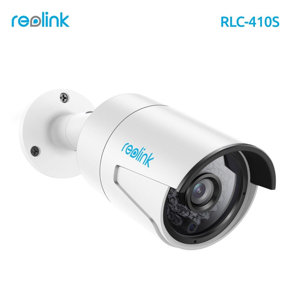 Reolink IP Camera 4MP Night Vision 16GB SD Card Motion Detection Recording PoE Bullet Security <font><b>Infrared</b></font> Outdoor Cam RLC-410S