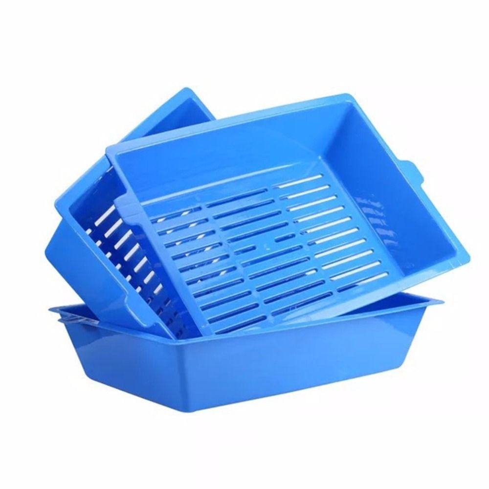 Cat Bedpans <font><b>Semi</b></font> Closed Anti-splash Cat Toilet Cat Litter Box Plastic Bedpan Case Pet Supplies 3 Interlocked Trays Easy To Use