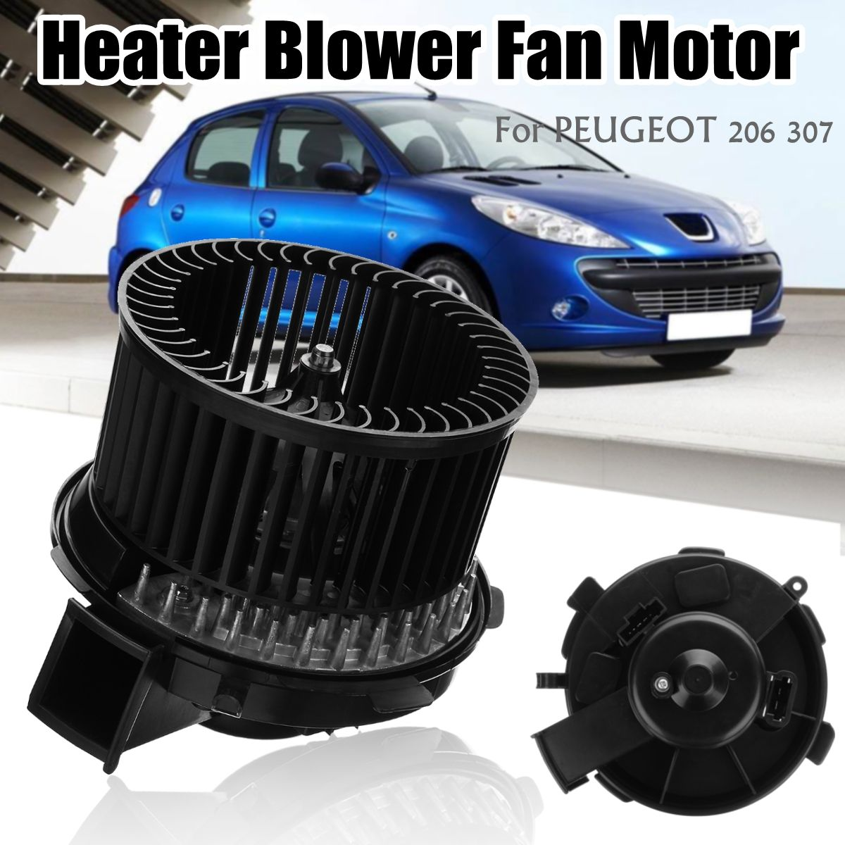 6441K0 12V Car Heater Blower Fan Motor With AIR-CON for Peugeot 206 CC/SW 307 CC/SW
