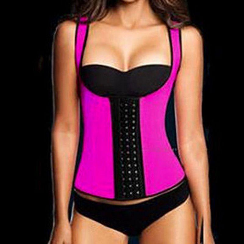 Hot Sexy Femmes Minceur Ceinture Corset En Latex Néoprène Taille Formateur Corps Shaper de Modélisation Sangle Shapewear Poitrine Binder Serre-Taille