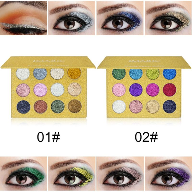 Professional Long Lasting Shimmer Eyeshadow Palette 2017 NEW Glitter Eyeshadow Palette Glitter Powder Makeup Palette