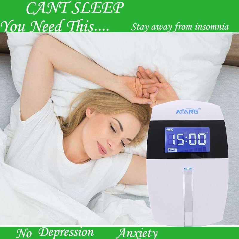 Therapie Schlaflosigkeit Angst CES Schädel Elektrische stimulation Einschlafen Einfacher Schlafmittel Gerät Home Office Tragbare Physikalische