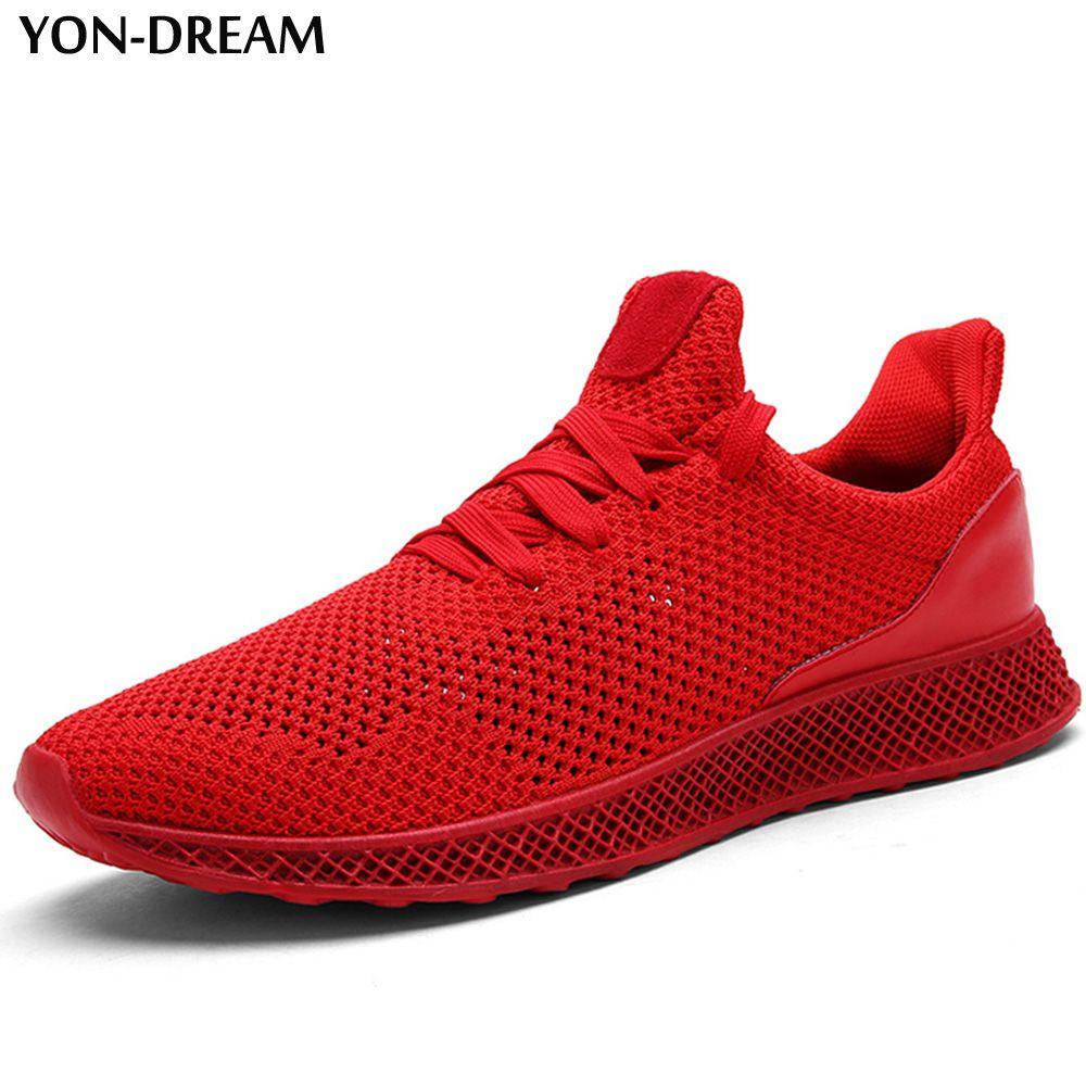 YON-DREAM Summer Trends Breathable Men Shoes Fly Knitting Light Soft Sneakers Air Mesh Shallow Sport Men All Match Casual Shoes