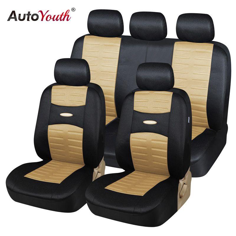 Autoyouth 11 шт. комплект мода автомобиль Чехлы для сидений мотоциклов сэндвич Ткань Универсальный Fit Автомобили внедорожник транспортных средс...