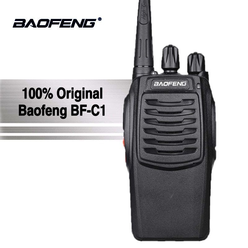 Baofeng BF-C1 5W Walkie Talkie 16CH Two-Way Radio UHF Portable Ham Radio Flashlight PMR Transceiver Upgraded BF-888S Walky Talky