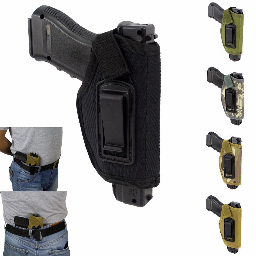 Verdeckte Gürtelholster IWB Holster Passt Alle Kompakte Kleinwagen Pistolen für die Rechte Hand Ziehen Airsoft Gewehr Jagd Zubehör