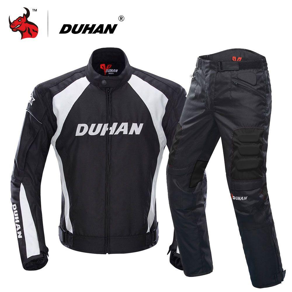DUHAN Motorcycle Jacket Motocross Suits Jacket&Pants Moto Jacket Protective Gear Armor Motorcycle Racing Jackets