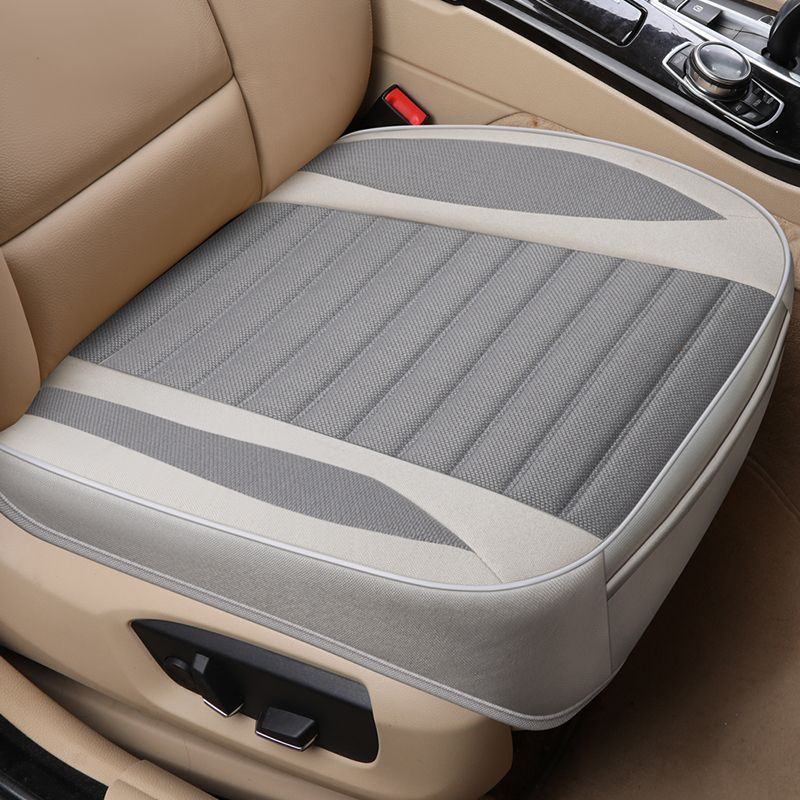 Ultra-Luxury Car Seat Protection Single Seat Without Backrest Breathable Flax Car Seat Cover For Most Four-Door Sedan&SUV