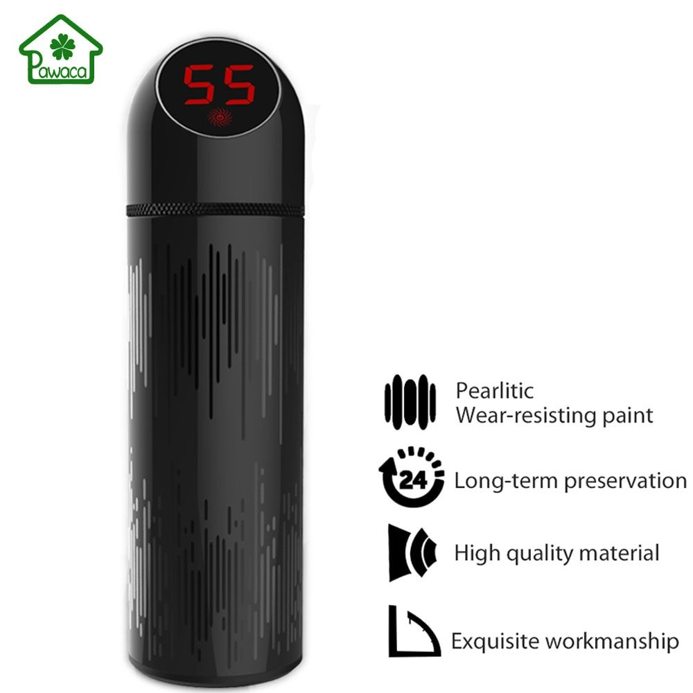 500ML Thermo Mug Stainless Steel Vacuum Flasks LED Temperature Display Insulation Coffee Tea Thermos Smart OLED Touch Car Cups