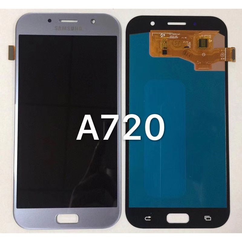 100% Super AMOLED LCD For Samsung Galaxy A7 2017 A720 A720F SM-A720F LCD Display + Touch Screen Digitizer Assembly free ship