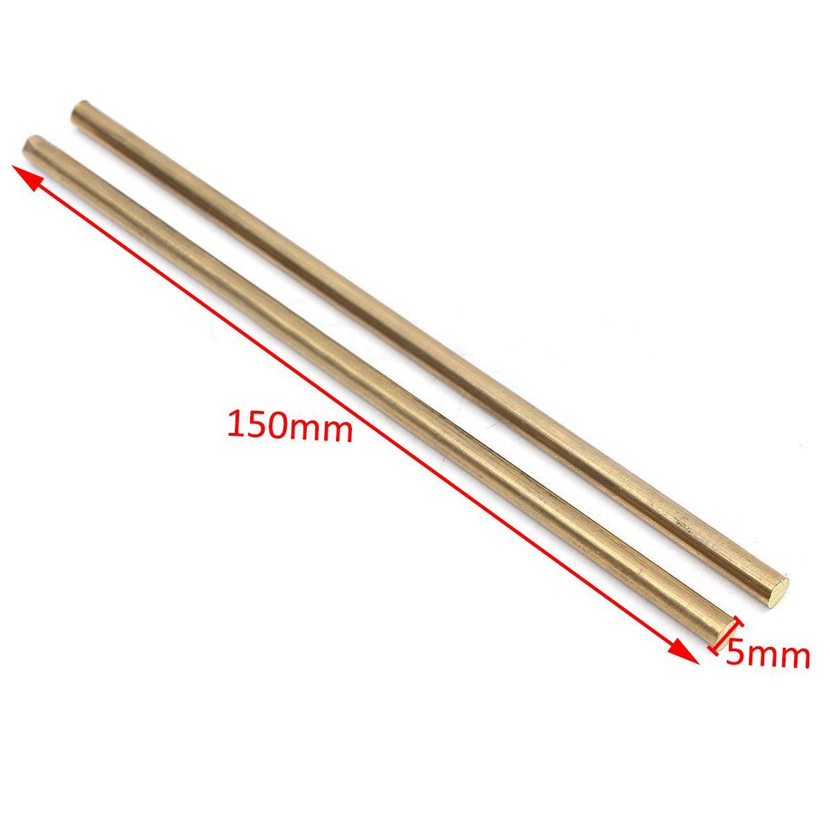 2 teile/los Neue Hervorragende Verformbarkeit Messing Round Rod Pin Ungeschliffen Stange Kupfer Blank Waagen Klinge Griff Messing Stange 1/4 5mm * 150mm
