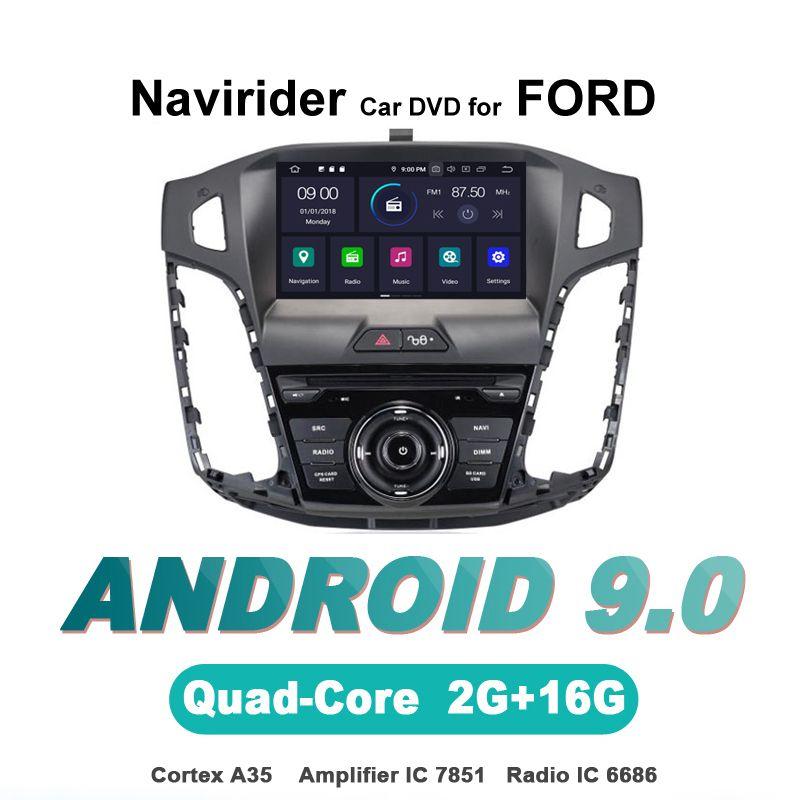Navirider OS 9,0 Auto Android-Player Für FORD FOCUS 2012 stereo radio gps navigation bluetooth TDA7851 Verstärker sound System