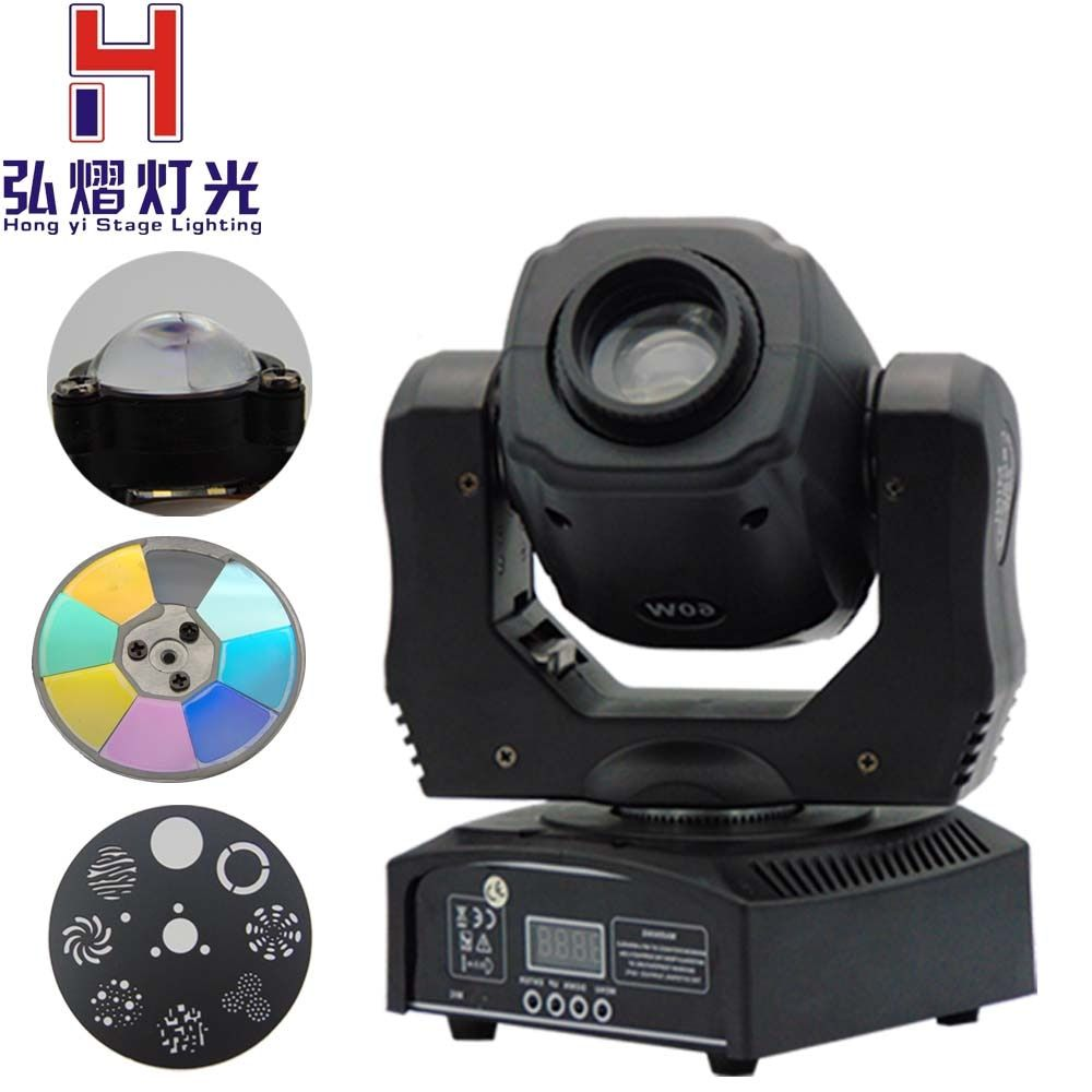 (1 pieces/lot) 60W moving head led spot 1*60W White Color zhen li LEDs moving led Color/Gobo Wheel Built In DMX 9/11 CH