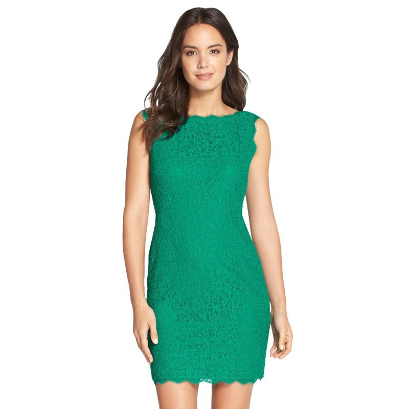 Berydress nouveau femmes Cocktail partie sans manches vert dentelle Midi longueur Zipper retour qualité dentelle robe courte femmes vêtements 2017