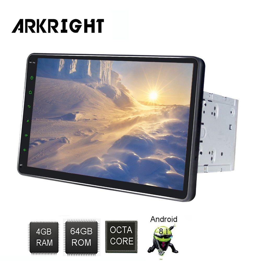 10,1 2din Android 8.1 Auto Radio audio stereo 4 + 64 gb Auto Multimedia-Player mit DSP unterstützung 4G SIM karte/Hotspot sharing/zlink