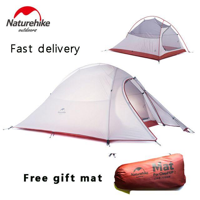 2017 dhl-freies verschiffen NatureHike 2 Personen Zelt ultraleicht 20D Silikon Stoff Zelte doppelschicht Zelt Außenzelt