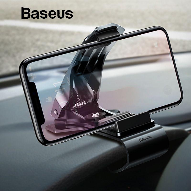 Baseus Dashboard Auto Telefon Halter für iPhone X Einstellbare Clip Halterung für Samsung S9 Telefon Griff Handy Halter stehen