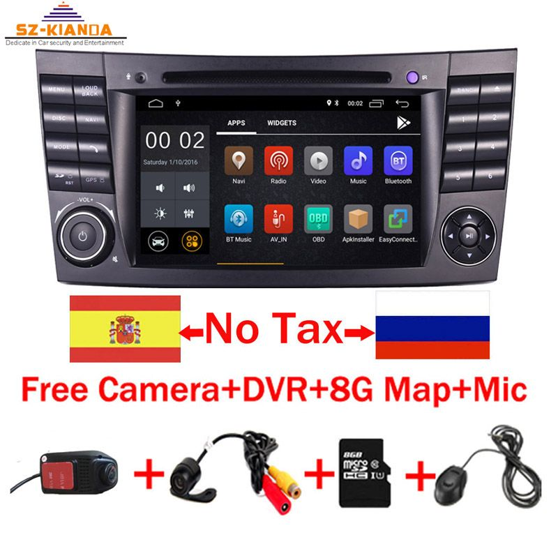 2019 neueste Android 9.0 IPS Touchscreen Auto DVD Player Für Mercedes Benz E-Klasse W211 E200 E220 E300 E350 quad Core Wifi Radio