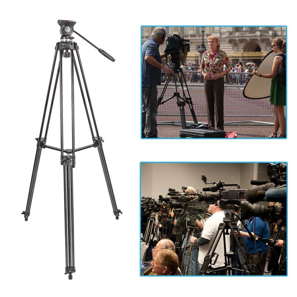 ZOMEI Professionelle Kamera Stativ Heavy Duty Video Aluminium Legierung Stativ Flüssigkeit Pan Kopf Dämpfung für Dslr DV Video
