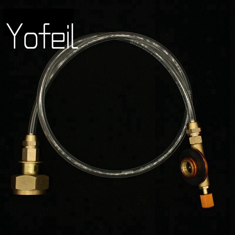 Yofeil extérieur Camping cuisinière à gaz Propane recharge adaptateur gaz cylindre plat réservoir coupleur adaptateur cuisinière à gaz accessoires