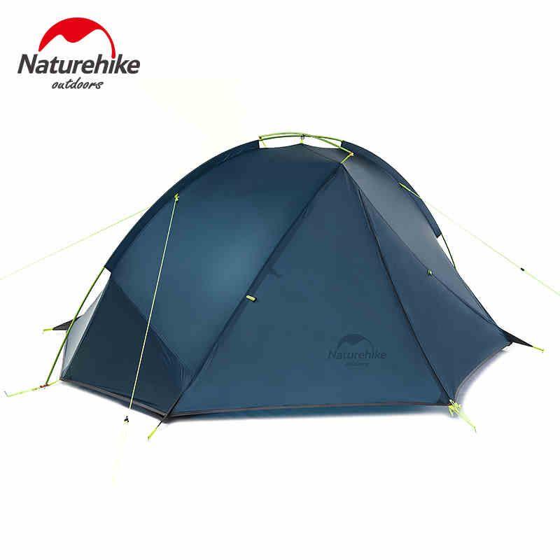 NatureHike NH17T180-J Doppel Schicht 1-2 Person Rucksack Zelt 3 Saison Für Camping Wandern Trekking Reisen Silikon Beschichtet