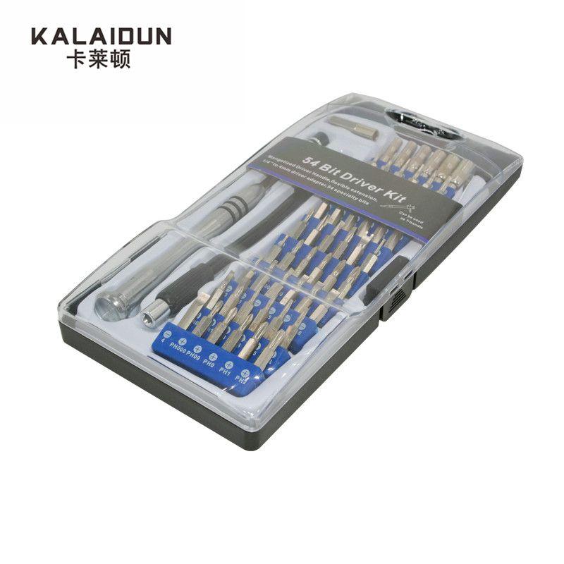 KALAIDUN Haute Qualité 54 Bits Driver Kit 57 En 1 de Précision torx Tournevis Set Outil De Réparation Outils À Main pour Téléphone 4S/5S iPad Pc