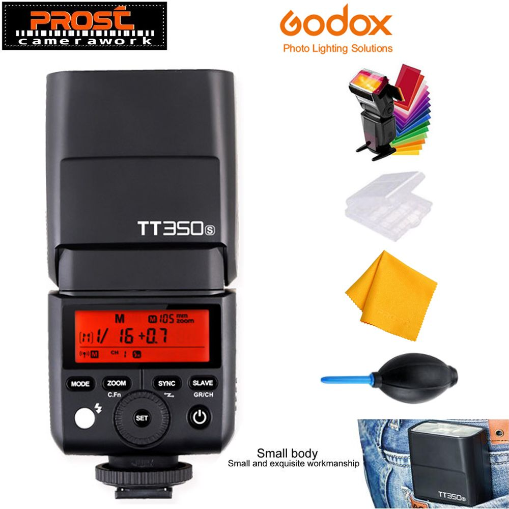 Godox Mini Speedlite TT350S TT350N TT350C TT350O TT350F Camera Flash TTL HSS GN36 for Canon Nikon Sony Fujifilm Olympus Camera
