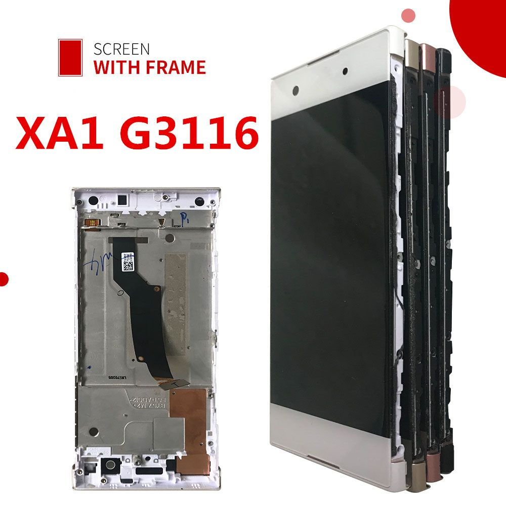 For Sony <font><b>Xperia</b></font> XA1 LCD Display Touch Screen Digitizer Assembly With Frame Replacement G3116 G3121 G3112 For 5.0 SONY XA1 LCD