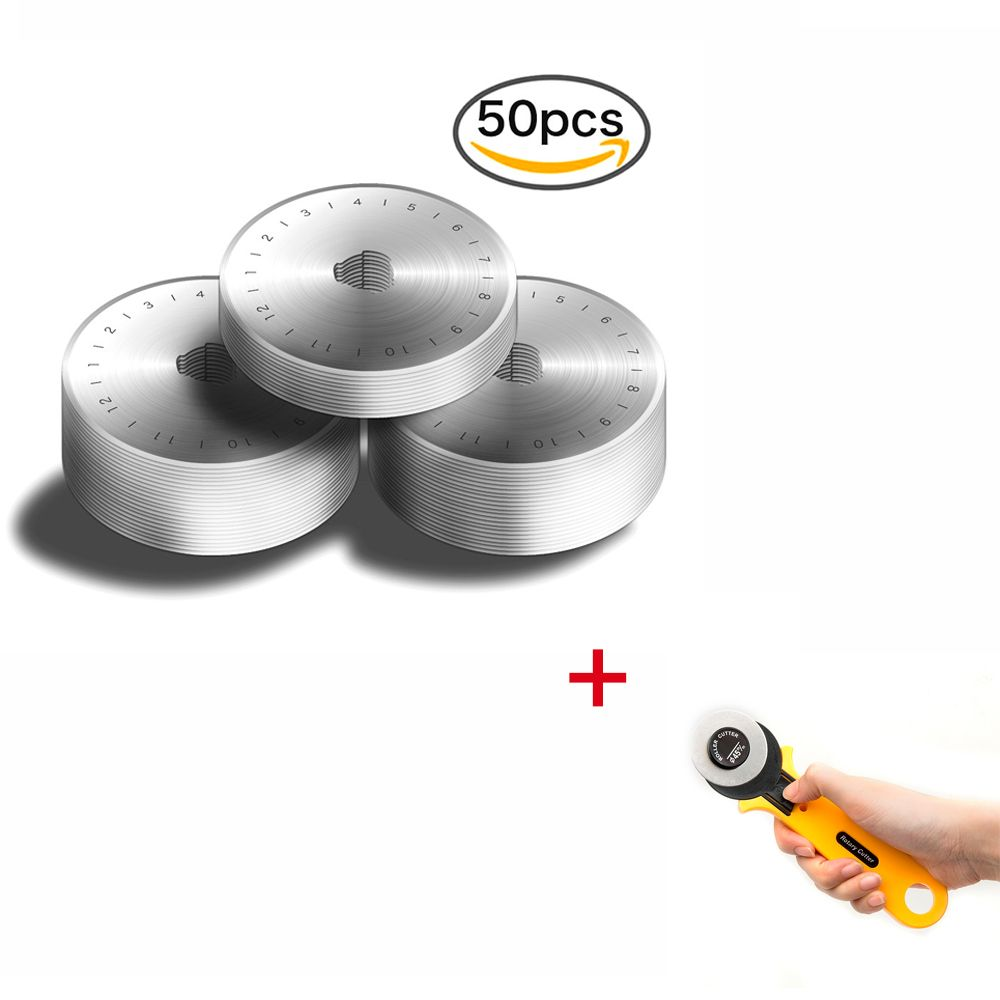 Dropshipping 50pcs 45MM Rotary Cutter Cutters Blades + a free Rotary Cutter