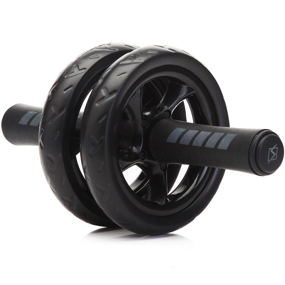 Nouveau Garder la Forme Roues Pas de Bruit Roue Abdominale Ab Rouleau Avec Mat Pour L'exercice Fitness Equipment